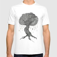 Girl In Tree Mens Fitted Tee White SMALL