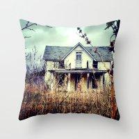 Yellow House Throw Pillow