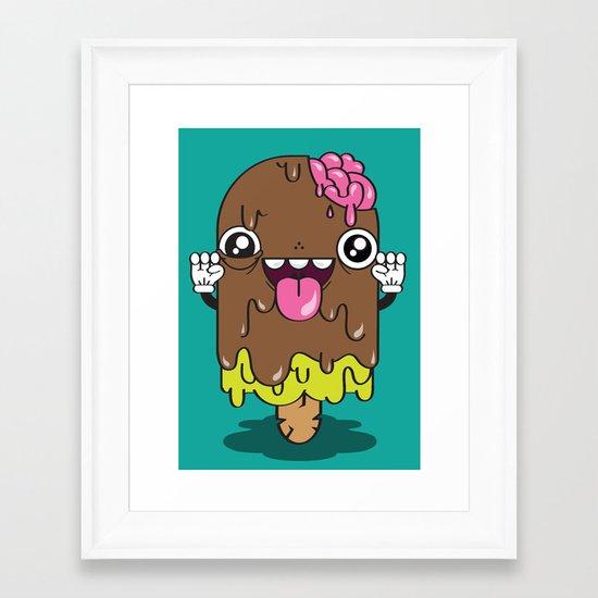 Brain Freeze Framed Art Print