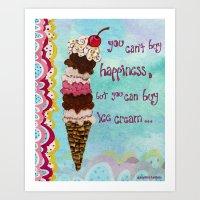 Ice Cream Happiness Art Print