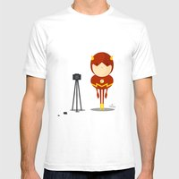 My camera hero! Mens Fitted Tee White SMALL