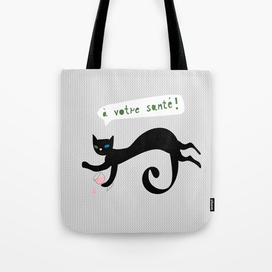 party animals - french cat Tote Bag