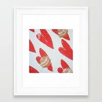 Hearts In Flight Framed Art Print