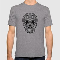 Mexican Skull - White Ed… Mens Fitted Tee Athletic Grey SMALL