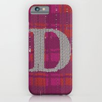 iPhone & iPod Case featuring Winter clothes. Letter D. by Studio Caravan