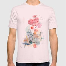 Transport 1 Mens Fitted Tee Light Pink SMALL