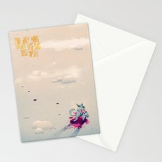 The Boy Who Carried the Big Bad Wolf Poster Stationery Cards