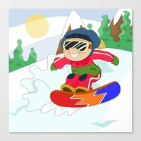 Winter Sports: Snowboard… Canvas Print