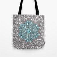 Mandala Pattern with Glitters Tote Bag
