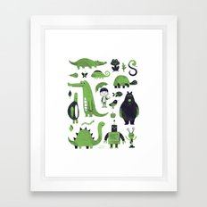 Greens Framed Art Print