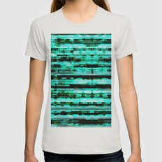 Turquoise Womens Fitted Tee Silver SMALL