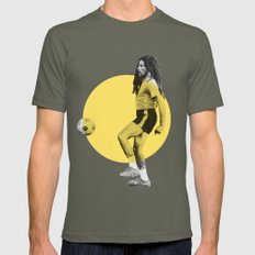 Marley playing soccer Mens Fitted Tee Lieutenant SMALL