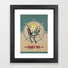 Fallout Vault Kid Framed Art Print