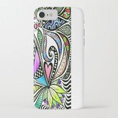 Zentangle Flowering Coloured Slim Case iPhone 7
