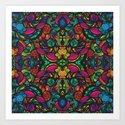 Colorful mosaic pattern. Art Print