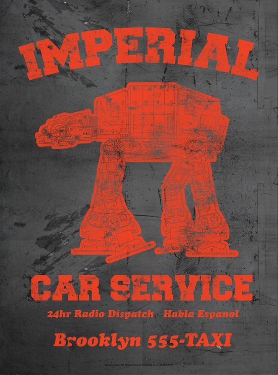 Imperial Car Service (Safety Orange) Art Print