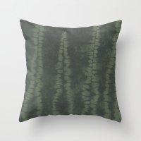 Shibori Ferns Throw Pillow