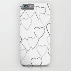 Black and White R Hearts iPhone 6 Slim Case
