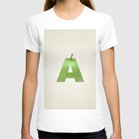 A.  Womens Fitted Tee White SMALL