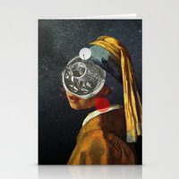 Look into the deep night Stationery Cards