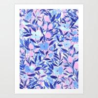 Nonchalant Blue Art Print