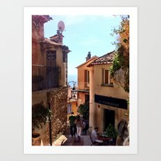 Mountain Village in Eze, France Art Print