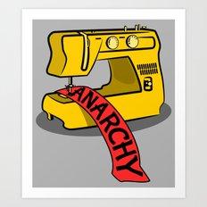 Anarchy Sewing Machine Art Print
