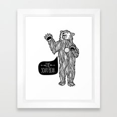 Scary Bear 2 Framed Art Print
