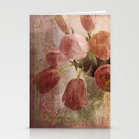 peach tulips Stationery Cards
