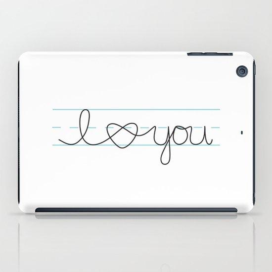 i heart ( love ) you iPad Case