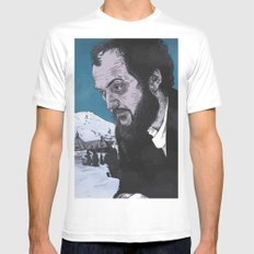 Stanley Kubrick SMALL White Mens Fitted Tee