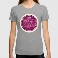 Make it Pretty Womens Fitted Tee Tri-Grey SMALL