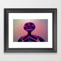 RED SKELETON Framed Art Print