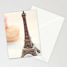 Macaron and Mini Eiffel Tower Stationery Cards