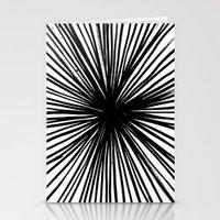 Sunburst Black  Stationery Cards