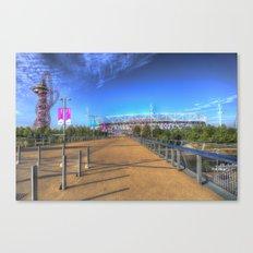 West Ham Olympic Stadium And The Arcelormittal Orbit  Canvas Print