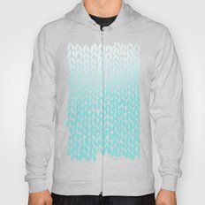 Hand Knitted Ombre Teal Hoody