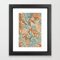 Motivo floral Framed Art Print