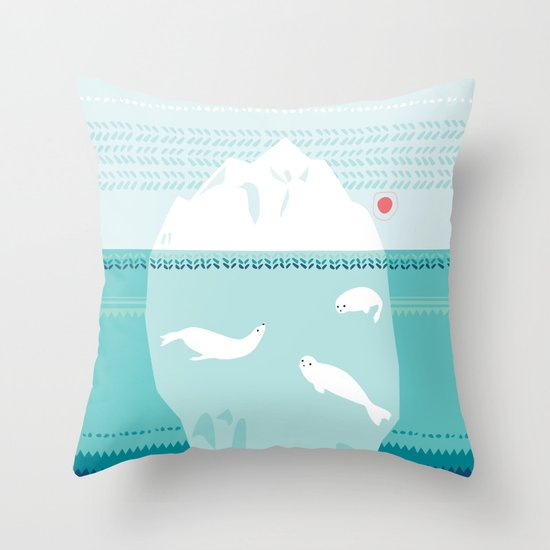 The Ice Lovers Throw Pillow