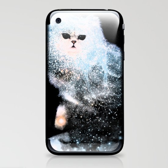 Celestial Cats - The Persian and the Ashes of the First Stars iPhone & iPod Skin