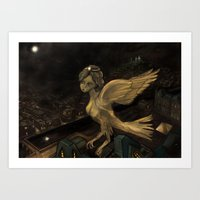 The Enigma of Paris  Art Print