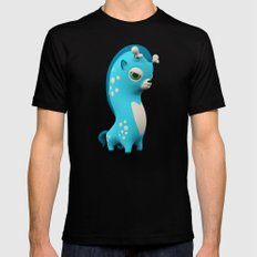 Cool Blue Wippo Mens Fitted Tee Black SMALL