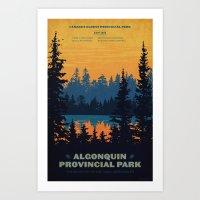 Algonquin Park Poster Art Print