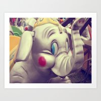 Carnival Elephant Art Print