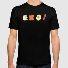 Let's All Go And Have Breakfast SMALL Mens Fitted Tee Black