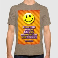 A Cheerful Look Mens Fitted Tee Tri-Coffee SMALL