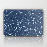 Ab Dotted Lines Navy Laptop & iPad Skin