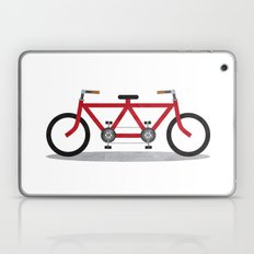 Broken Teamwork Tandem Bicycle Laptop & iPad Skin