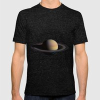 Saturn Mens Fitted Tee Tri-Black SMALL