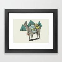 egyptian camp Framed Art Print